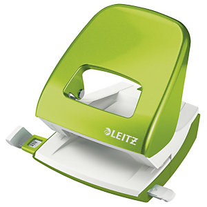 Leitz Perforateur 2 trous de bureau WOW, 3 mm/30 feuilles, Vert métallisé