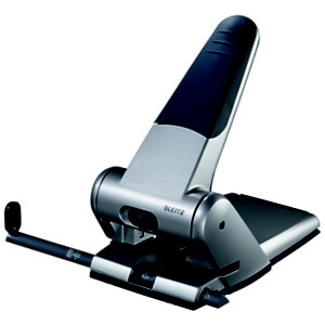 Leitz Perforatore per alti spessori, 2 fori, 65 fogli, Alluminio, Grigio