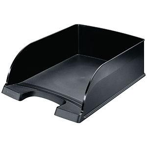 Leitz Plus Jumbo Bac à courrier, A4, polystyrène, noir, 103 x 255 x 357 mm
