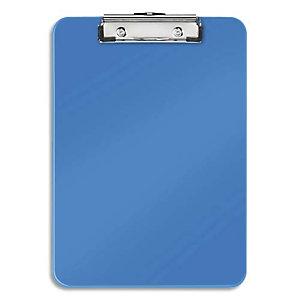 LEITZ Porte-blocs A4 Bleu, crochet de suspension, capacité 75 feuilles - Dim : L22,8 x H1,7 x P32 cm