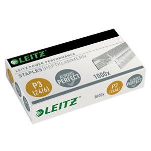 Leitz Power Performance P3 (24/6) Punti metallici, In acciaio, Lunghezza gamba 6 mm, Capacità di cucitura 30 fogli, Confezione da 1000 (confezione 1.000 pezzi)
