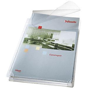 Leitz Premium Busta a foratura universale con soffietto, A4, PVC 170 micron, Liscia, 11 fori, Trasparente (confezione 5 pezzi)