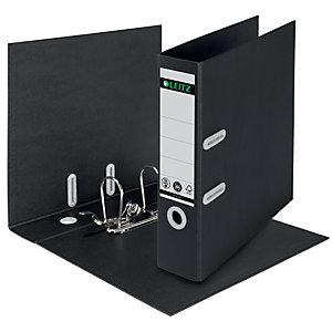 Leitz Recycle - Classeur à levier 180° A4 - Carton 100% recyclé et 100% recyclable - Dos 8 cm - Capacité 600 feuilles - Noir