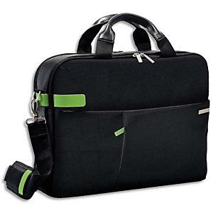 LEITZ Sac Inch Laptop Bag pour ordinateur 15,6, 2 compartiments + pochettes - L41 x H31 x P9 cm Noir