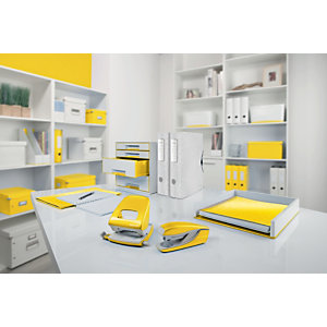 Leitz Scatola organizer Medium Click & Store, Cartone, Coperchio removibile, Giallo, 281 x 370 x 100 mm