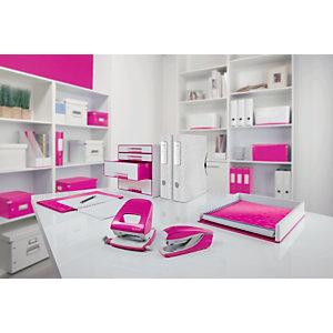 Leitz Scatola organizer Small Click & Store, Cartone, Coperchio removibile, Fucsia, 220 x 282 x 100 mm