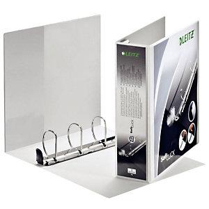 Leitz SoftClick Raccoglitore ad anelli personalizzabile, A4+, Dorso 83 mm, Capacità 580 fogli, Cartone, Bianco