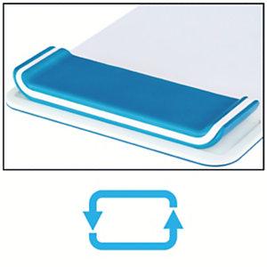Leitz Tappetino Mouse con poggiapolsi regolabile Leitz Ergo WOW, Bianco/Blu