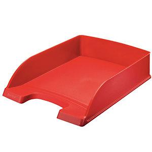 Leitz Vaschette portacorrispondenza linea ''Plus Desk Top'' - Classic - Dimensioni est. cm 25,5 x 36 x 7 h - Colore: rosso papavero
