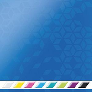 Leitz Wow Carpeta de 2 anillas de 25 mm, A4, cartón forrado, 230 hojas, lomo 40 mm, azul