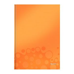 Leitz Wow Cuaderno, A4, cuadriculado, 80 hojas, cubierta dura cartón, naranja