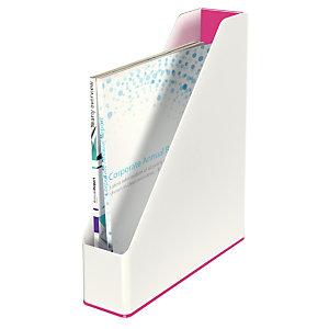 Leitz WOW Dual Color Portariviste, Dimensioni 272 x 318 x 73 mm, Colore Bianco/Fucsia metallizzato