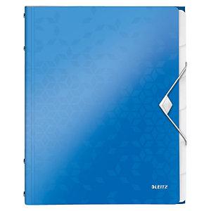 LEITZ WOW Sorteermap A4 6 vaks, blauw