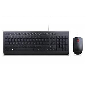 Lenovo Essential, Estándar, Alámbrico, USB, QWERTY, Negro, Ratón incluido 4X30L79915