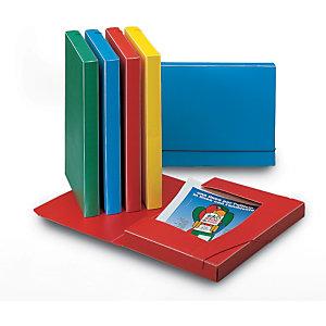 LEONARDI Cartella progetti con elastico, Polipropilene, Azzurro, 350 mm x 240 mm x 30 mm