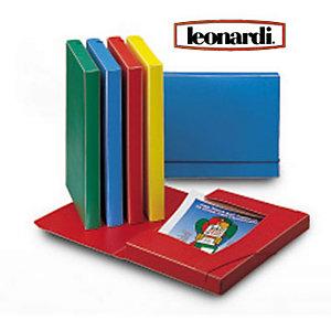 LEONARDI Cartella progetti con elastico, Polipropilene, Rosso, 350 mm x 240 mm x 30 mm