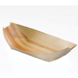 LEONE Piroga monouso in legno, 17,5 x 8,5 x 2 cm, Naturale (confezione 50 pezzi)