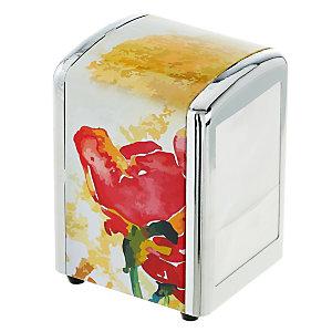 LEONE Portatovaglioli da banco per tovaglioli 17 x 17 cm, Acciaio, Fantasia Verdi