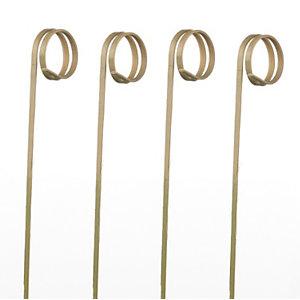 LEONE Spiedi in bamboo Ricciolo, 12 cm, Naturale (confezione 100 pezzi)