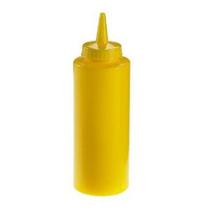 LEONE Squeeze bottle con tappo, Capacità 340 ml, Giallo (confezione 6 pezzi)