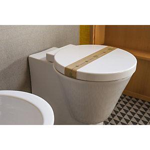 LEONE Striscia garanzia per WC Linea Cortesia Natura, Avana e verde (confezione 1.000 pezzi)