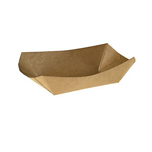 LEONE Vaschetta fritti, KRAFT/PE, Capacità 300 ml, 15 x 10,5 x 3,7 cm, Avana (confezione 125 pezzi)