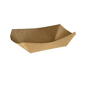 LEONE Vaschetta fritti, KRAFT/PE, Capacità 400 ml, 16,5 x 13,5 x 4,3 cm, Avana (confezione 125 pezzi)