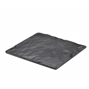 LEONE Vassoio quadrato gastronorm in melamina, 25 x 25 x 2 cm, Nero