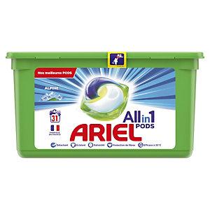 Lessive liquide en dosette Ariel pods 3 en 1, 31 doses fraîcheur Alpine