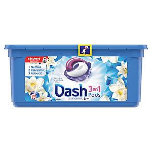 Lessive liquide en dosette Dash 3 en 1, 29 doses Fleurs de Lotus et Lys