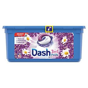 Lessive liquide en dosette Dash 3 en 1, 29 doses Lavande et Camomille