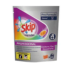 Lessive liquide en dosette Skip Professional, pour textiles colorés, 46 doses