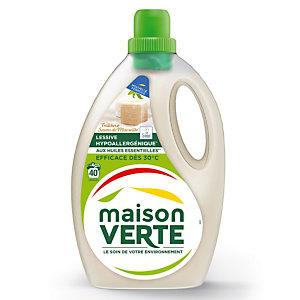 Lessive liquide écologique Maison Verte savon de Marseille 2,4 L - 40 doses