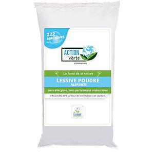 Lessive poudre concentrée écologique Action Verte 10 kg, 222 doses