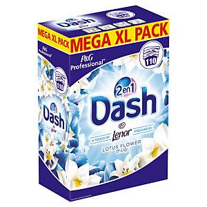Lessive poudre Dash 2 en 1 Fleur de lotus et lys, 110 doses