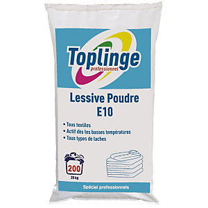 Lessive poudre Toplinge Professionnel 20 kg - 200 doses