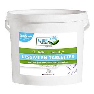 Lessive en tablette écologique concentrée Action Verte, seau de 160 tablettes