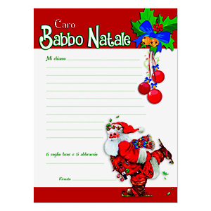 Letterina a Babbo Natale, 180 x 240 mm, Soggetto Babbo Natale (confezione 3 pezzi)