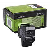 Lexmark 702K, 70C20K0, Tóner Original, Negro