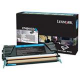 Lexmark X748H1CG, Tóner Original, Cian