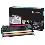 Lexmark X748H1MG, Tóner Original, Magenta