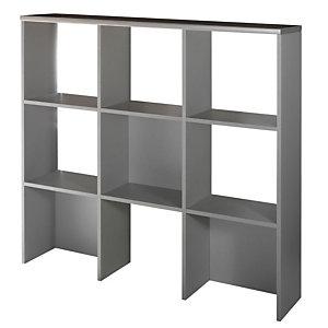 Libreria per mobili bassi Linea Vertigo - Dimensioni cm 135 x 30 x 125 - Colore Wengé