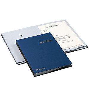 Libro firma, 18 scomparti, Blu