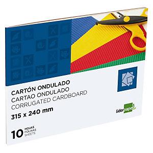 liderpapel Bloc de manualidades, 31,5 x 24 cm, cartón ondulado en colores surtidos