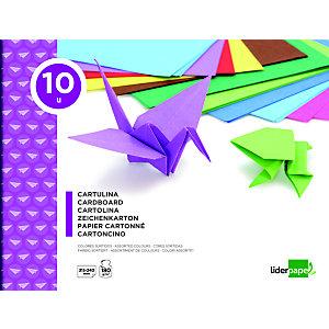 liderpapel Bloc de manualidades, 31,5 x 24 cm, cartulina en colores surtidos