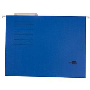 Liderpapel Carpeta colgante para cajón Folio lomo V azul