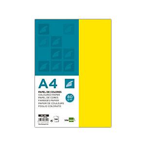 liderpapel Liderpapel Papel de Colores A4 80 g/m2 100h Amarillo Limón