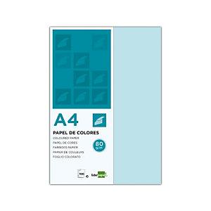 liderpapel Liderpapel Papel de Colores A4 80 g/m2 100h Azul Celeste