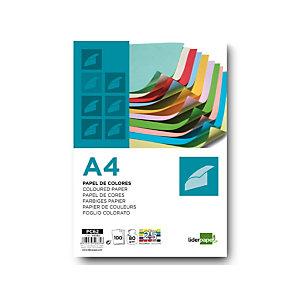 liderpapel Papel de Colores A4 80 g/m2 100h 25 colores surtidos