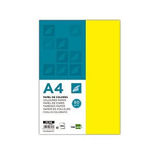liderpapel Papel de Colores A4 80 g/m2 100h Amarillo